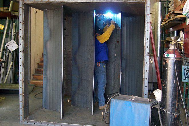 Metal Fabricator Working