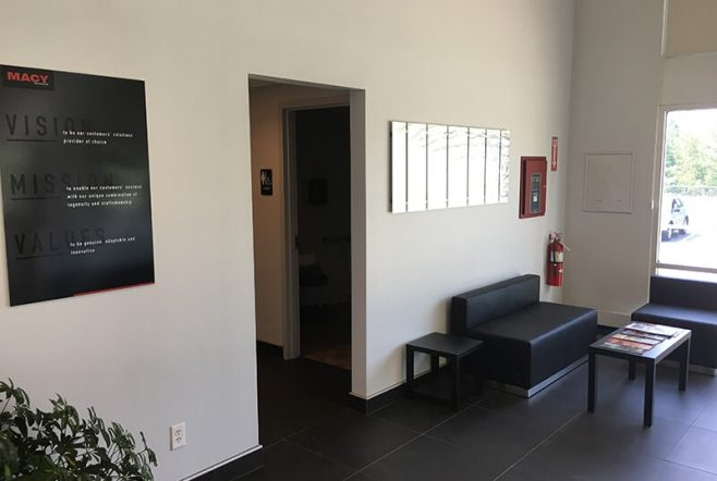 macy waiting room area